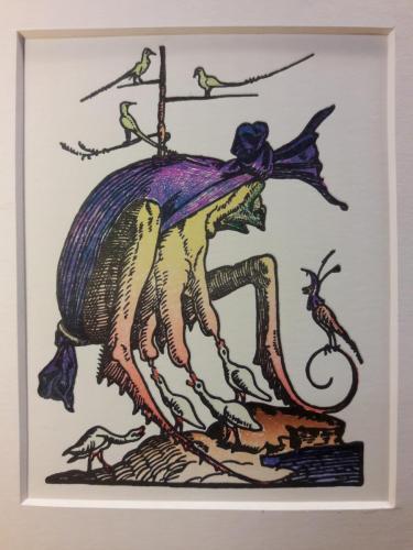Illustratie bij tekst van Rabelais.